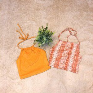 2 Forever 21 Halter Crop Tops Size Small